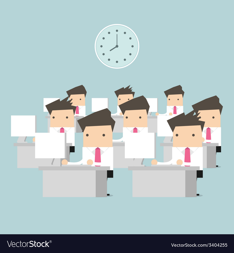 Businessman at table in office vector   Price: 1 Credit (USD $1)