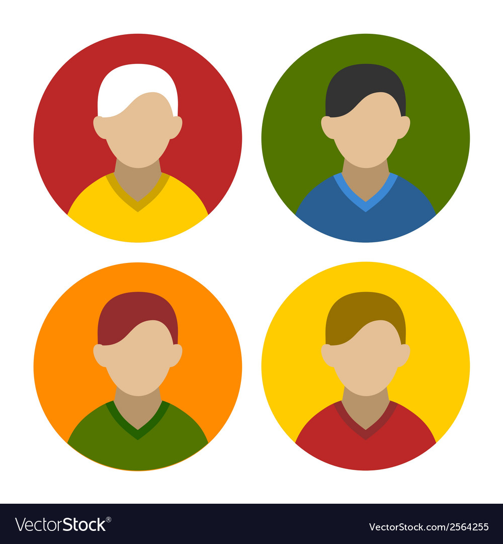Colorful businessman userpics icons set in flat vector | Price: 1 Credit (USD $1)