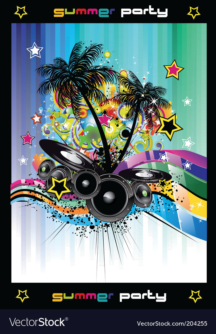 Discotheque background vector | Price: 3 Credit (USD $3)
