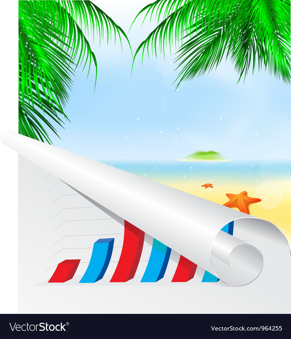 Graph summer background vector   Price: 1 Credit (USD $1)