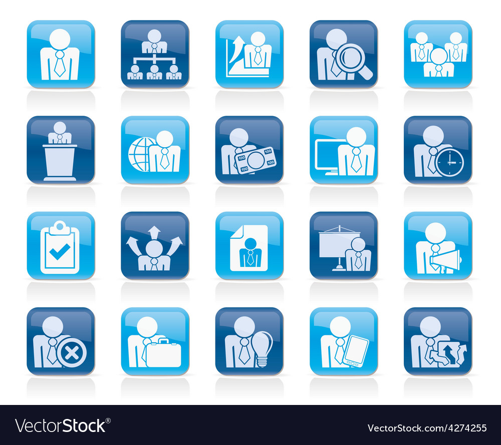 Human resource and business icons vector | Price: 1 Credit (USD $1)