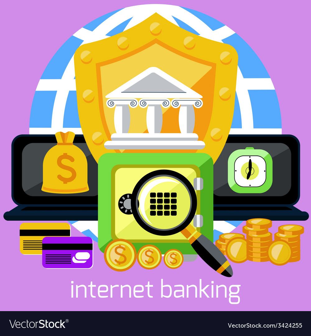Internet banking and security deposit concept vector | Price: 1 Credit (USD $1)