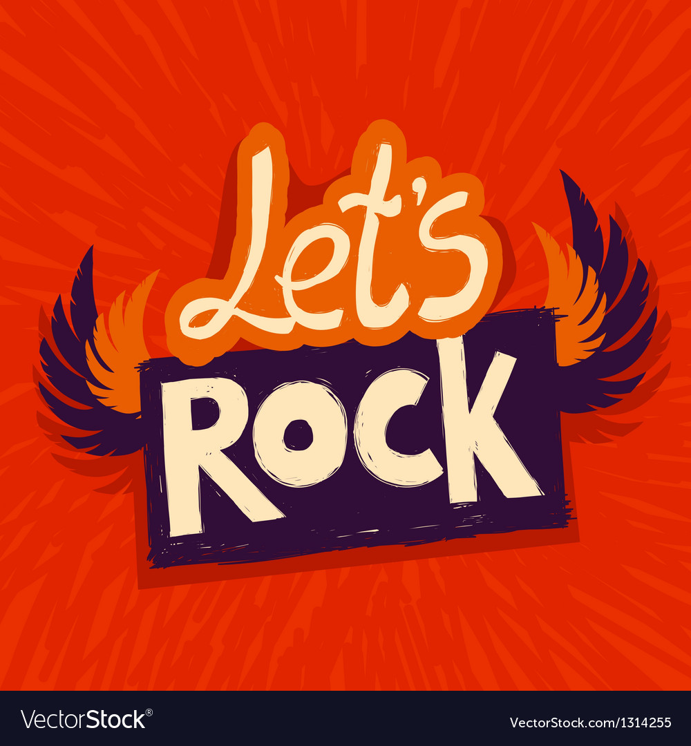 Lets rock poster vector | Price: 1 Credit (USD $1)