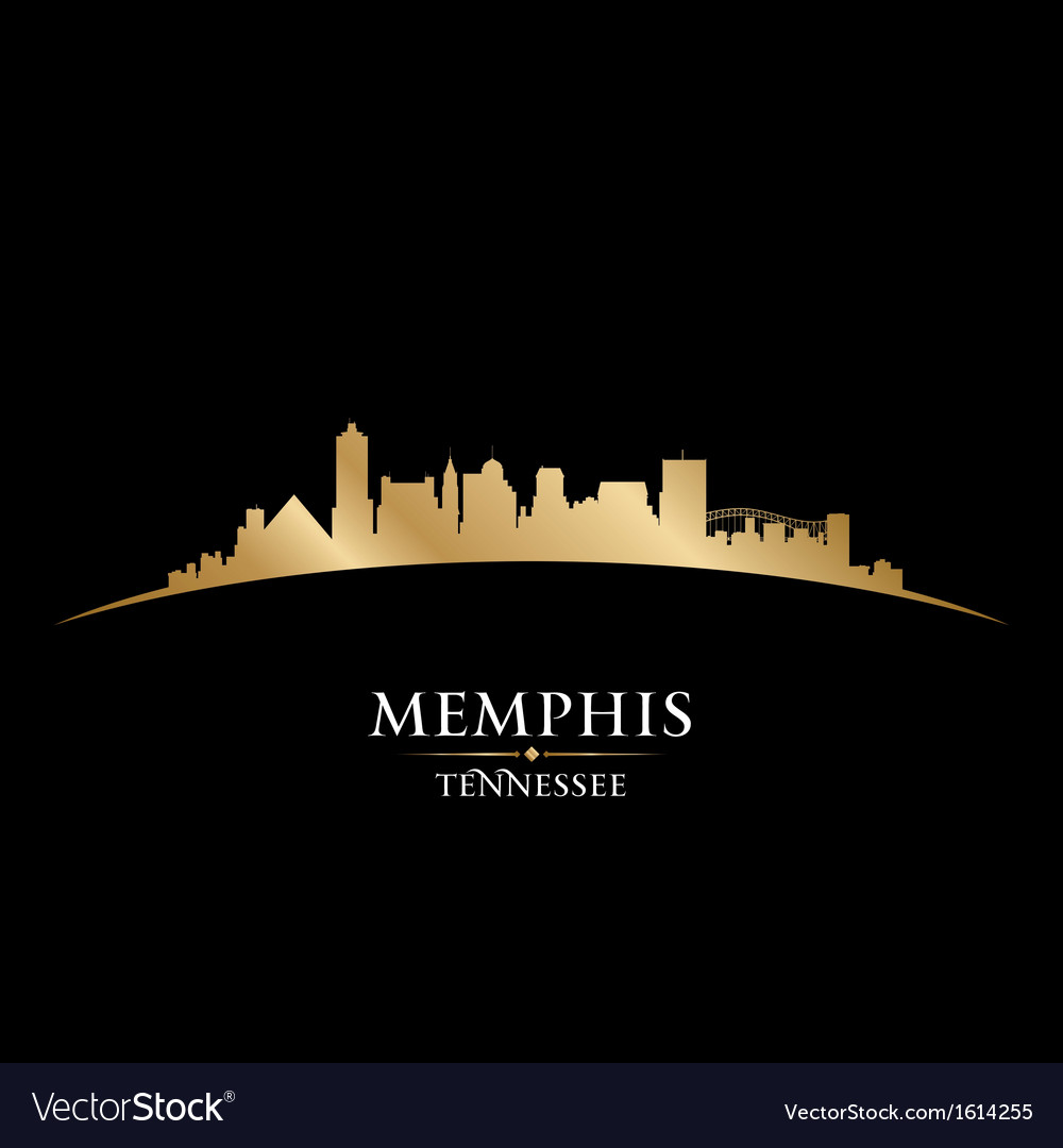 Memphis tennessee city skyline silhouette vector | Price: 1 Credit (USD $1)