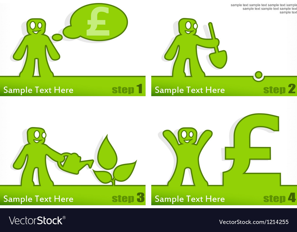 People grow money vector | Price: 1 Credit (USD $1)