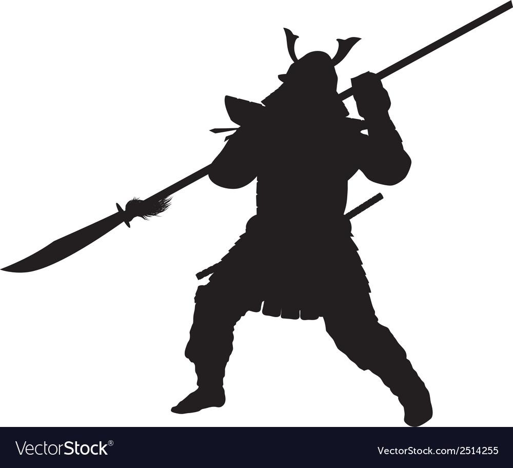 Samurai warriors theme vector | Price: 1 Credit (USD $1)