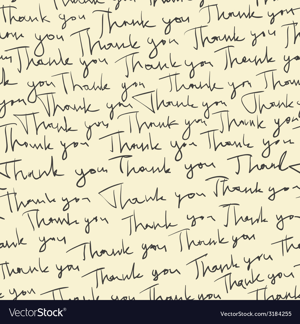 Thank you seamless pattern vector | Price: 1 Credit (USD $1)