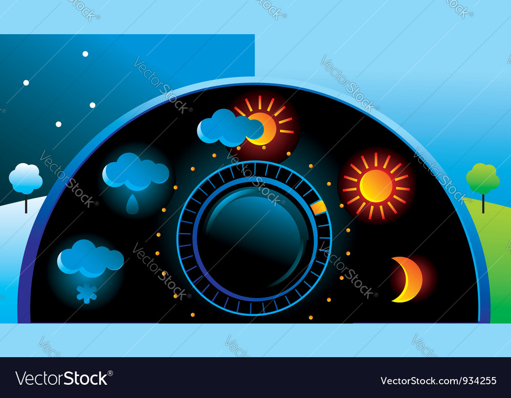 Weather thermometer vector | Price: 3 Credit (USD $3)