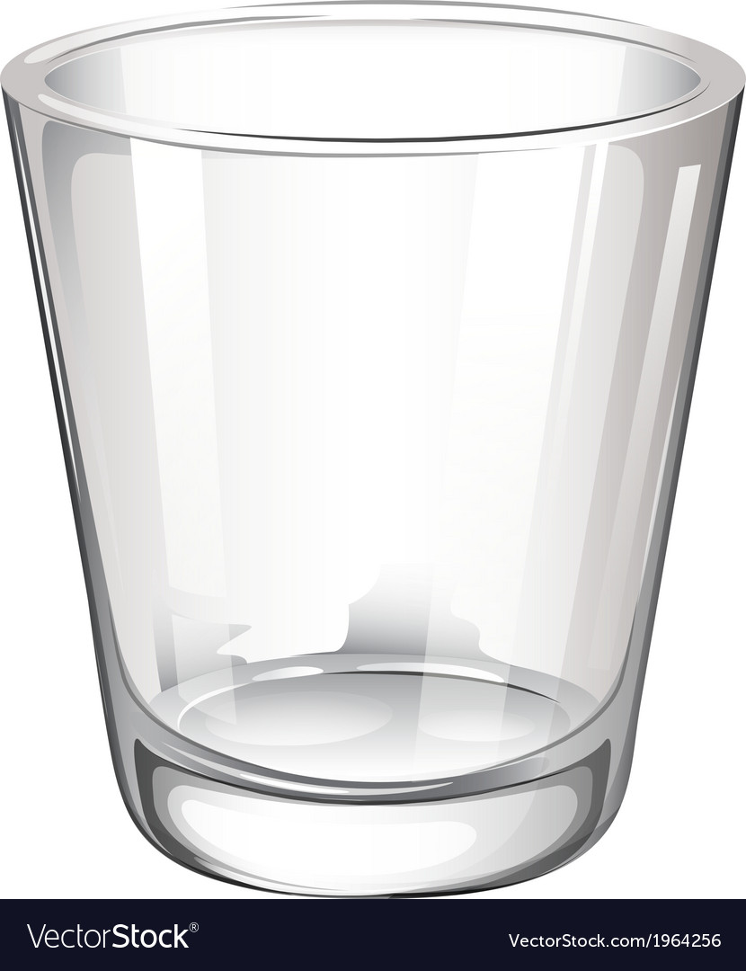 A plain drinking glass vector | Price: 1 Credit (USD $1)