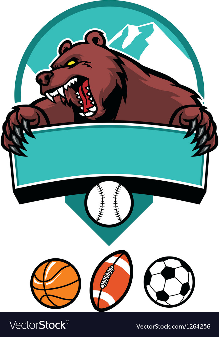 Bear mascot vector | Price: 3 Credit (USD $3)