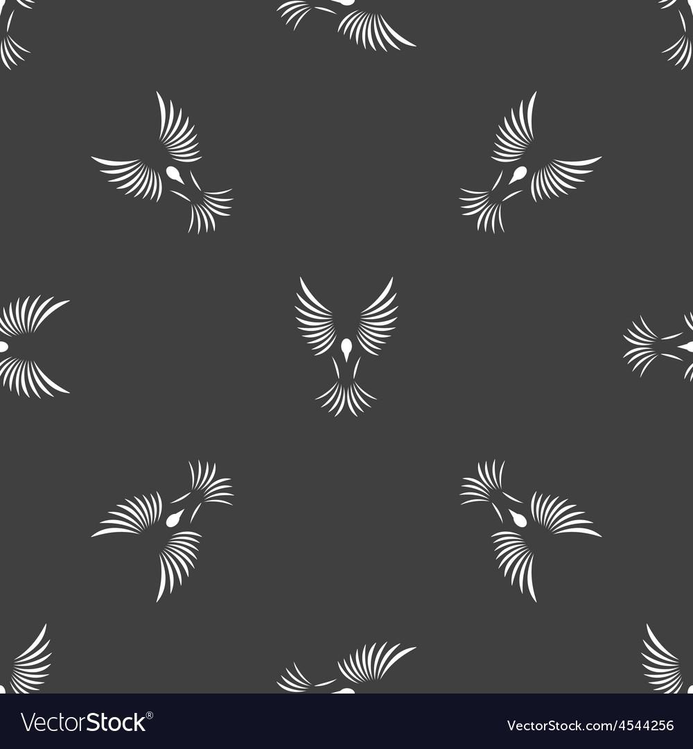 Bird contour pattern vector | Price: 1 Credit (USD $1)