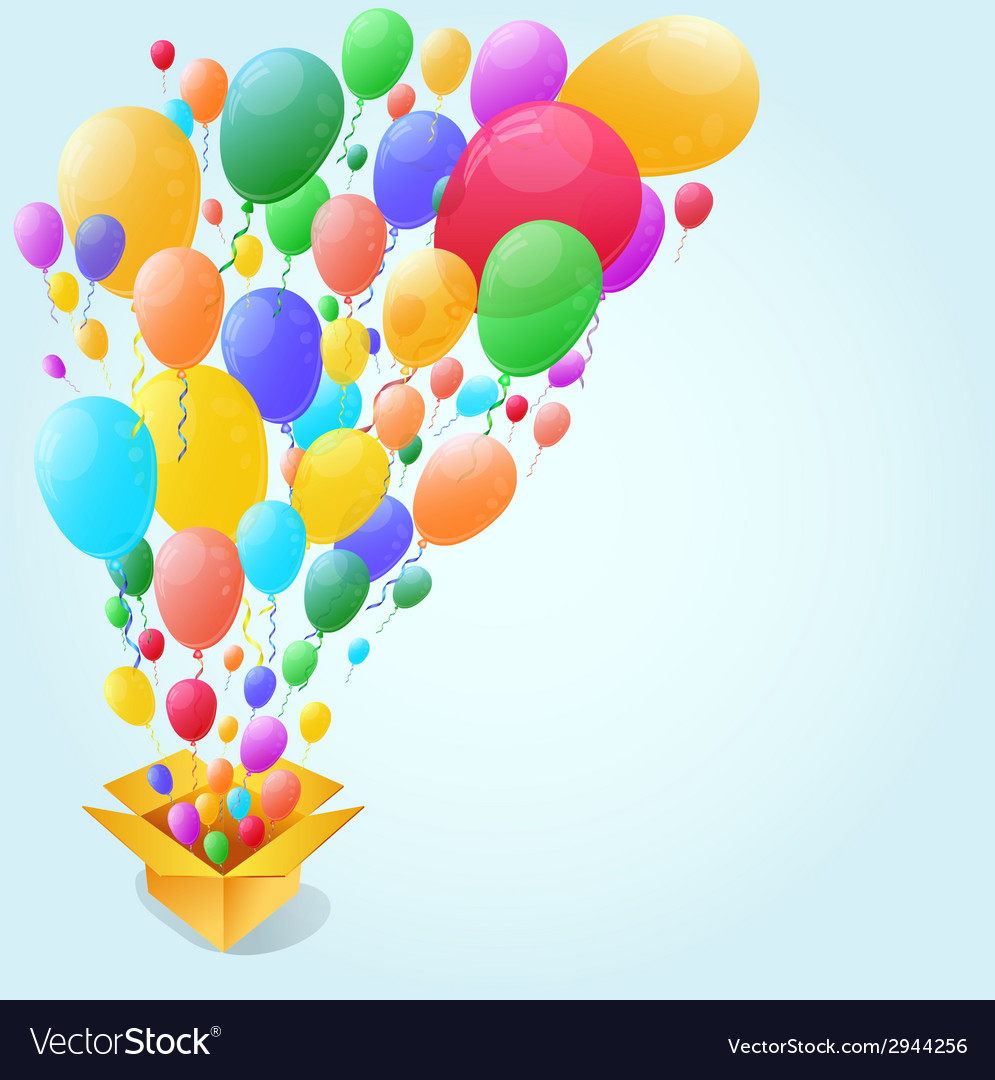 Colorful balloon abstract background vector | Price: 1 Credit (USD $1)