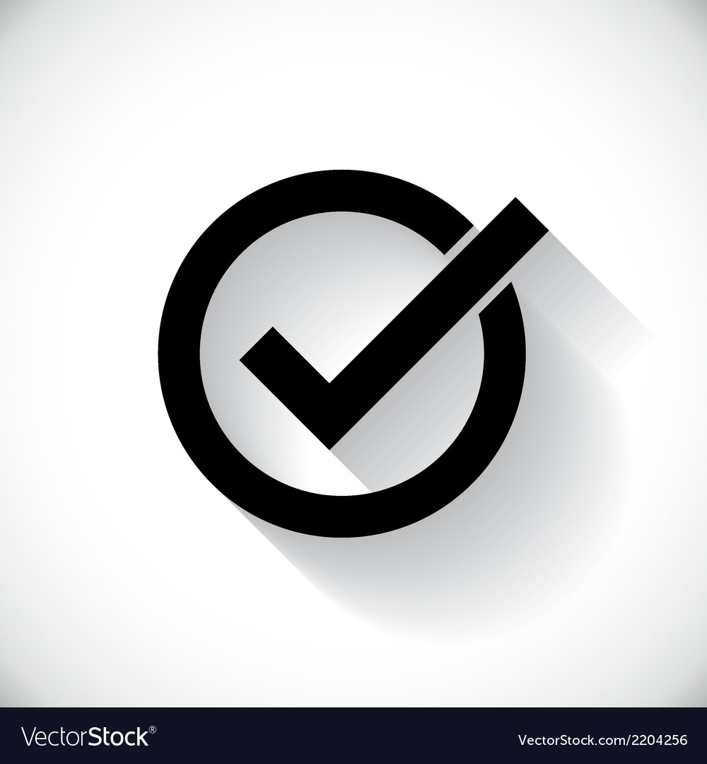 Correct symbol vector | Price: 1 Credit (USD $1)
