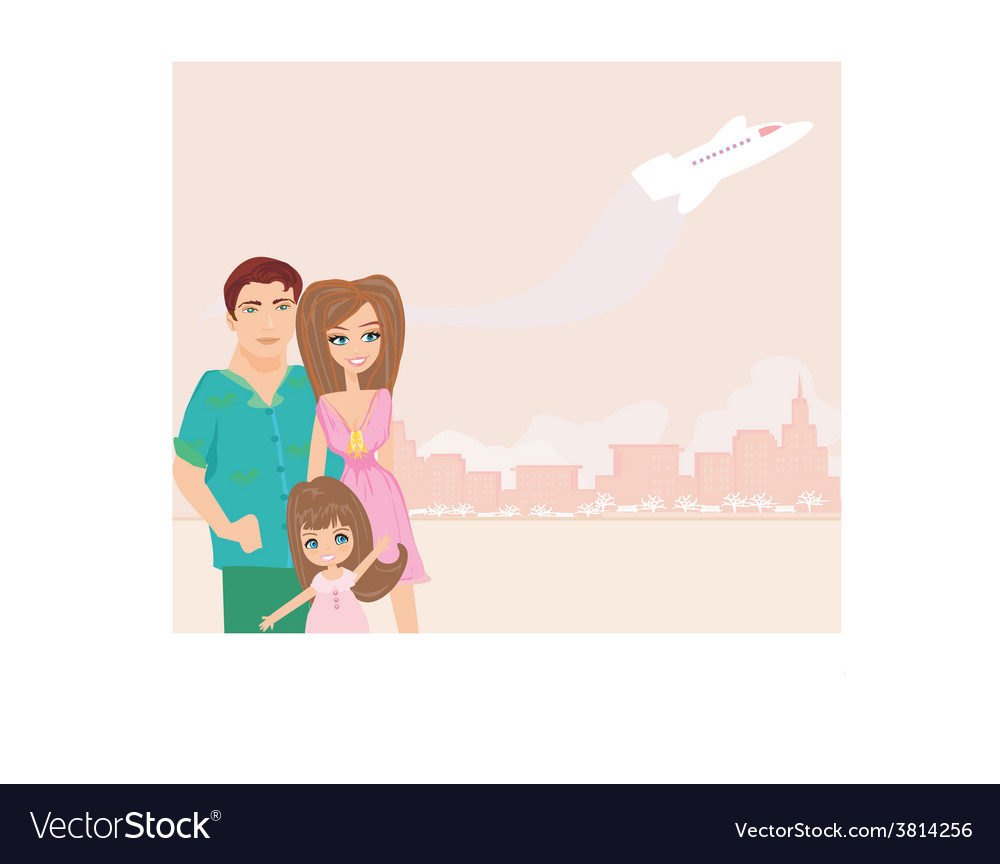 Family going on a vacation vector | Price: 1 Credit (USD $1)