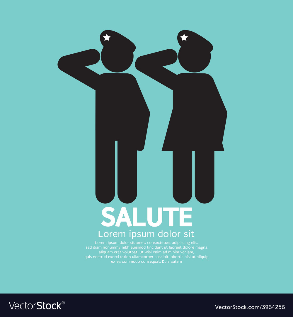 Man and woman gave the salute gesture vector | Price: 1 Credit (USD $1)