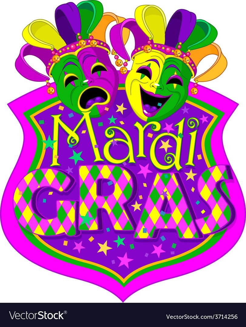 Mardi gras masks design vector | Price: 3 Credit (USD $3)