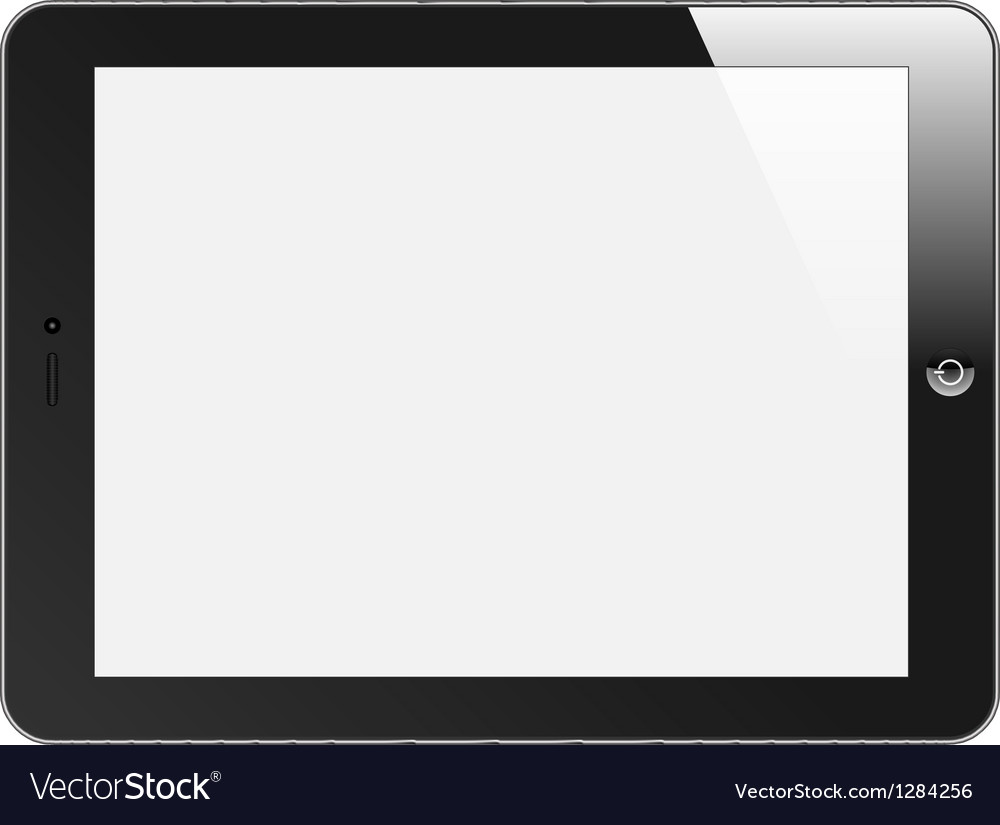 Realistic tablet pc with blank screen horizontal vector | Price: 1 Credit (USD $1)