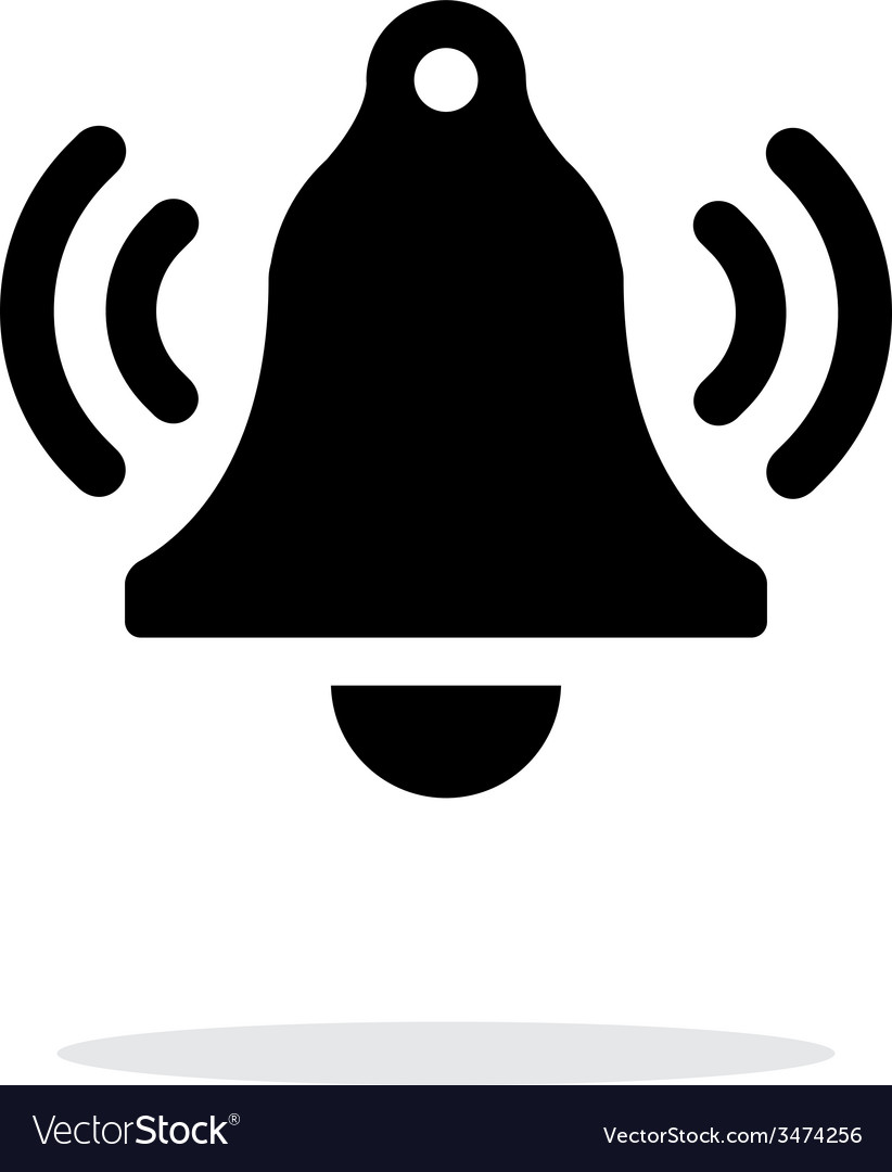 Ringing bell simple icon on white background vector | Price: 1 Credit (USD $1)