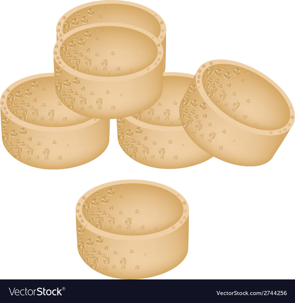 Stack of millet cookies on white background vector | Price: 1 Credit (USD $1)