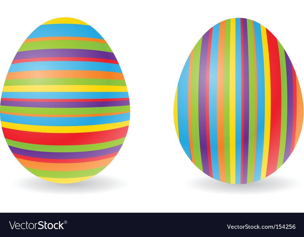 Striped eggs vector | Price: 1 Credit (USD $1)