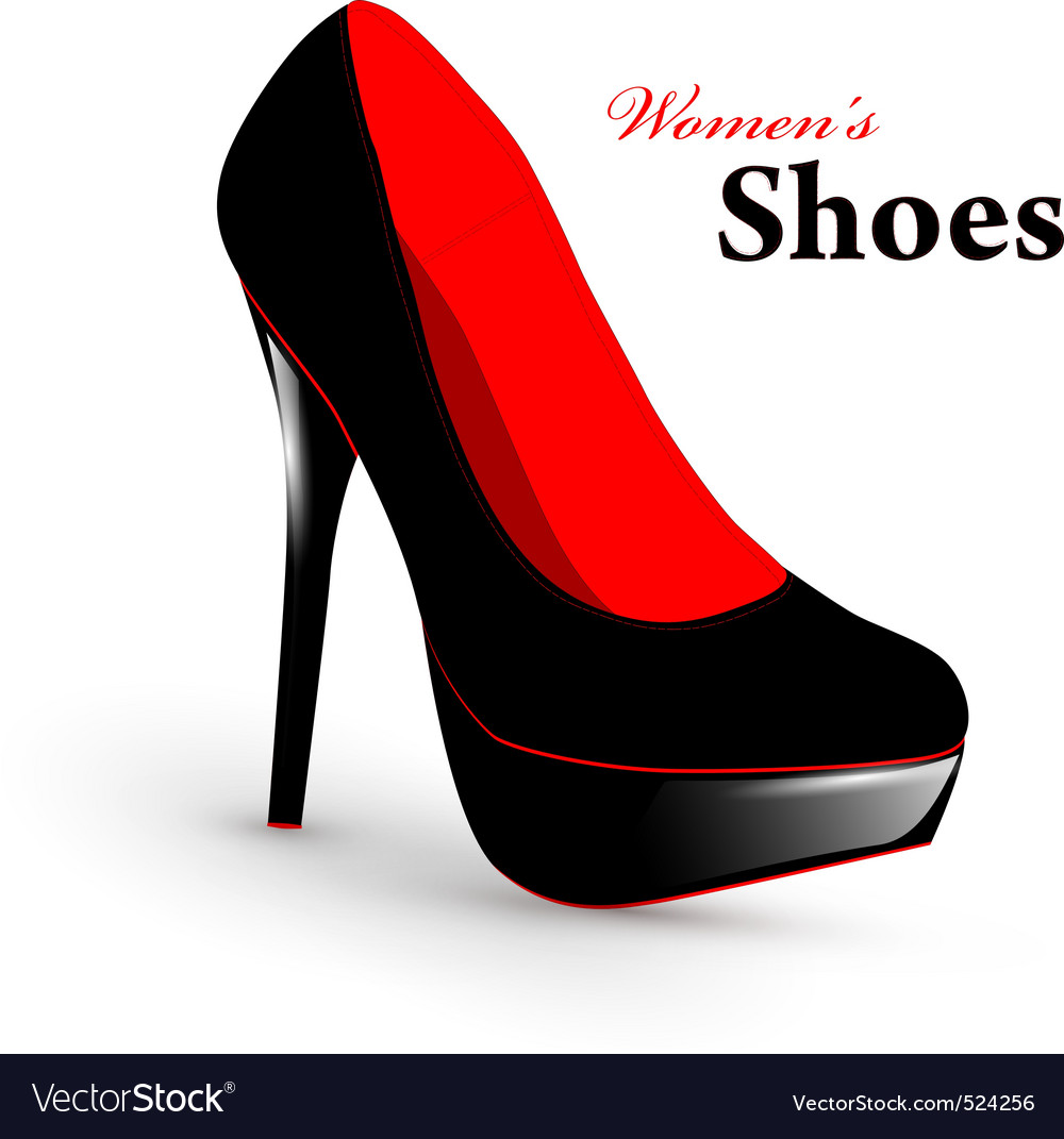 Woman shoes vector | Price: 1 Credit (USD $1)