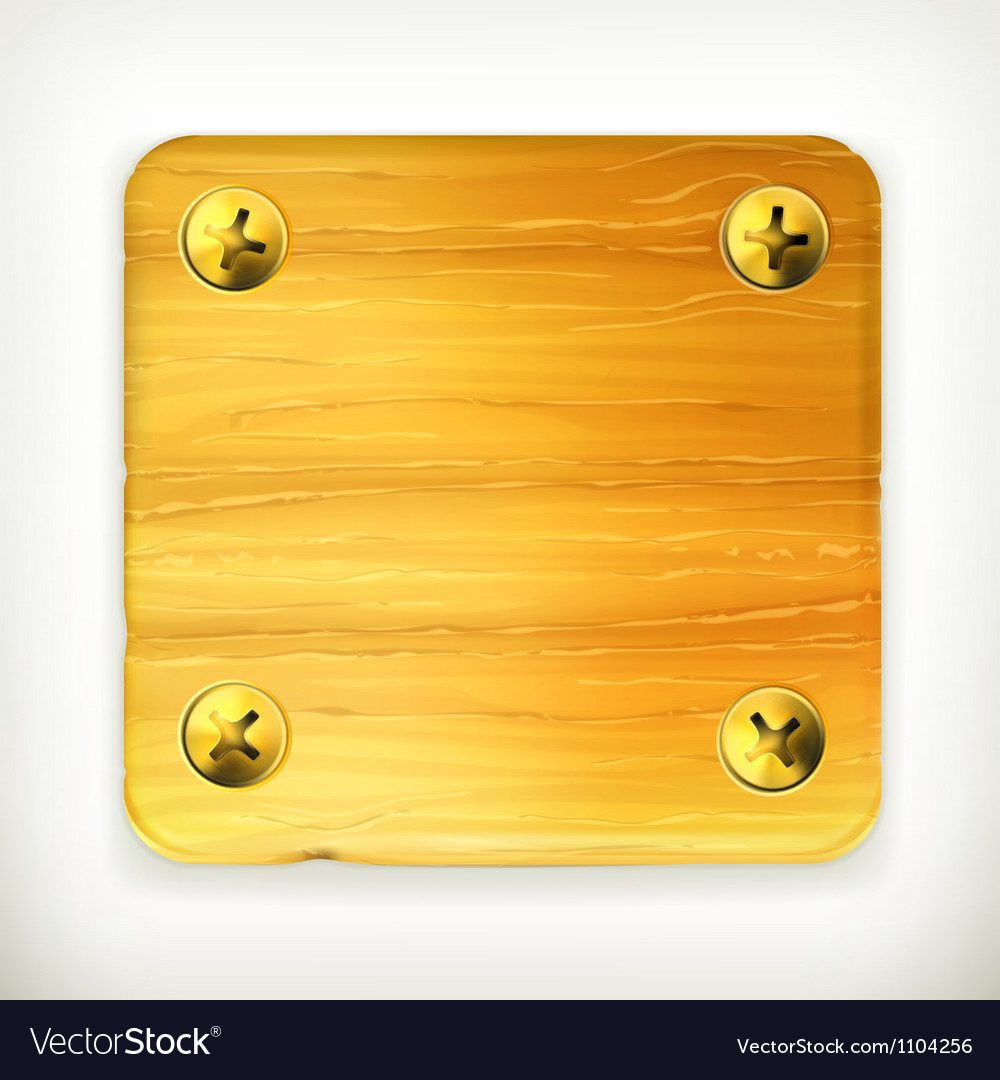 Wooden board with screws vector | Price: 1 Credit (USD $1)