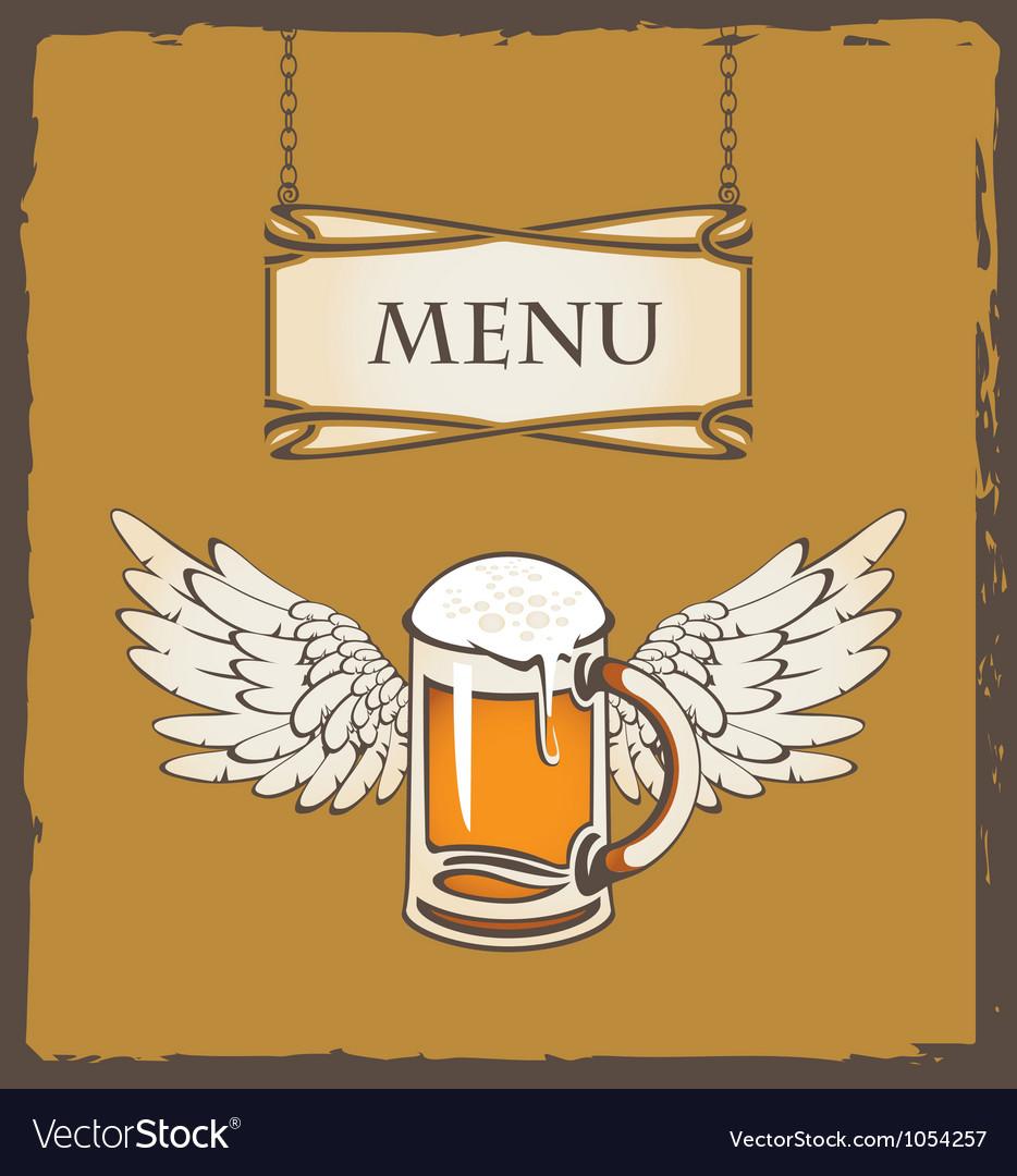 Beer wing vector | Price: 1 Credit (USD $1)