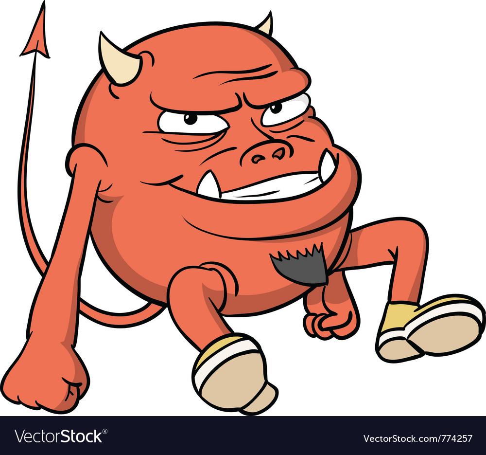 Cartoon red devil vector | Price: 1 Credit (USD $1)