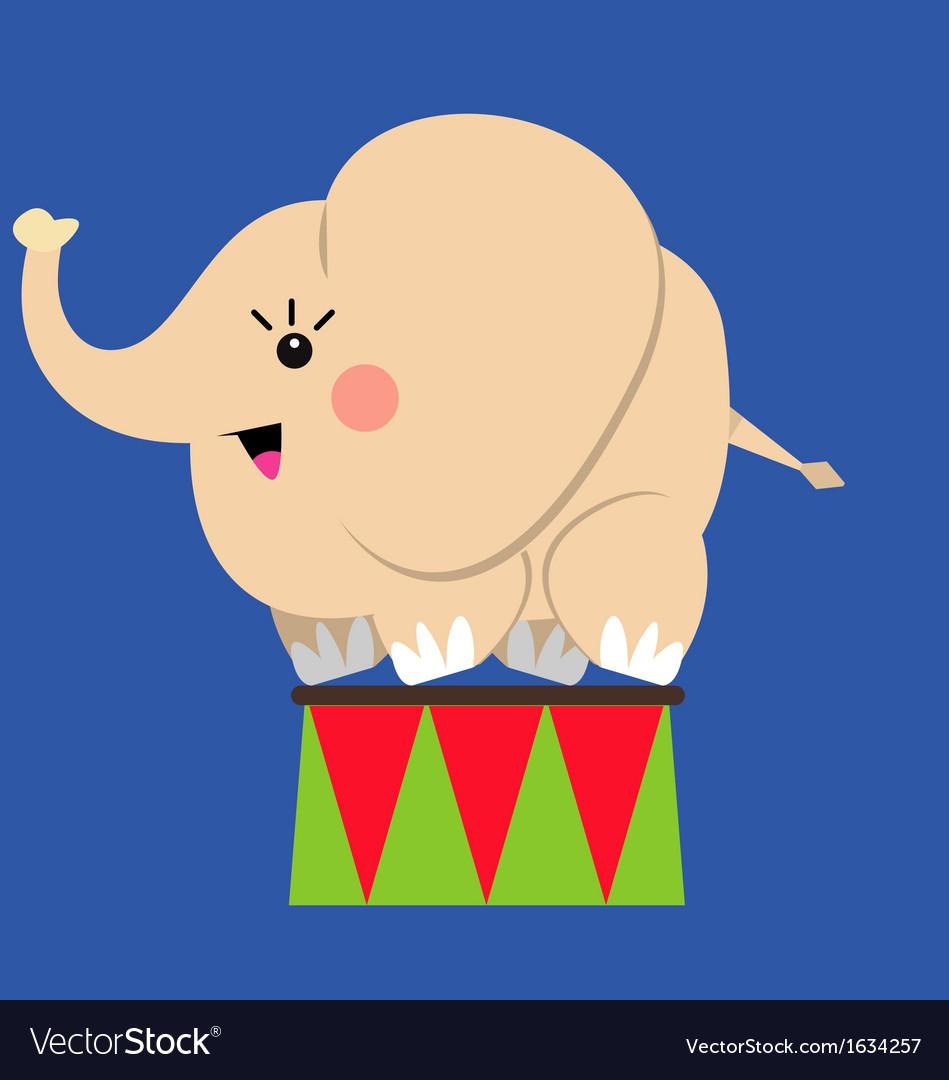 Circus elephant vector | Price: 1 Credit (USD $1)