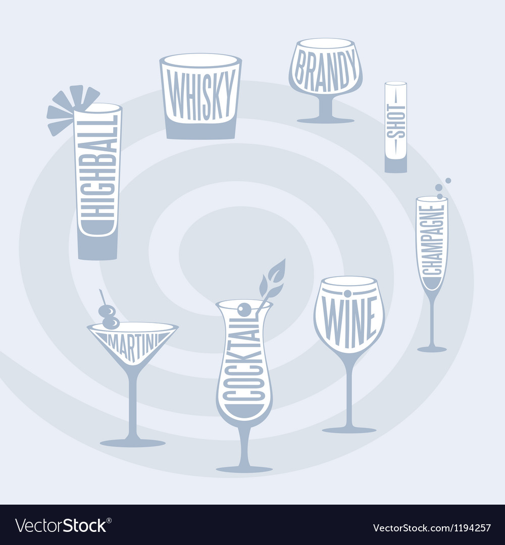Drinks set vector | Price: 1 Credit (USD $1)