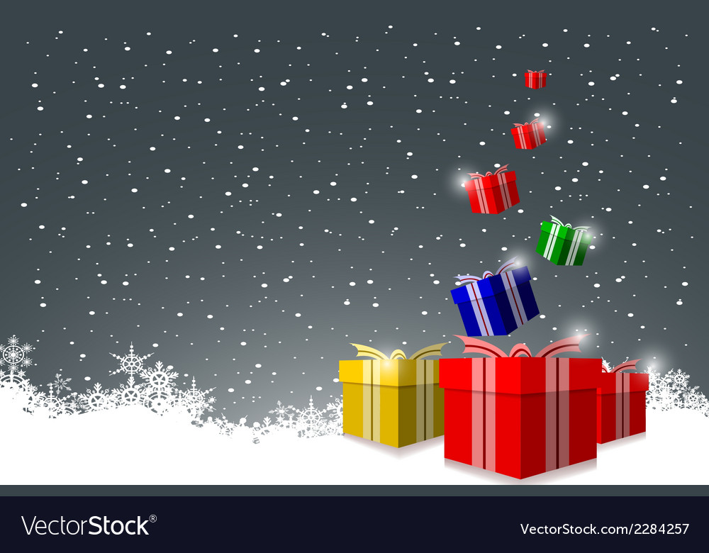 Elegant christmas background with gift boxes vector | Price: 1 Credit (USD $1)