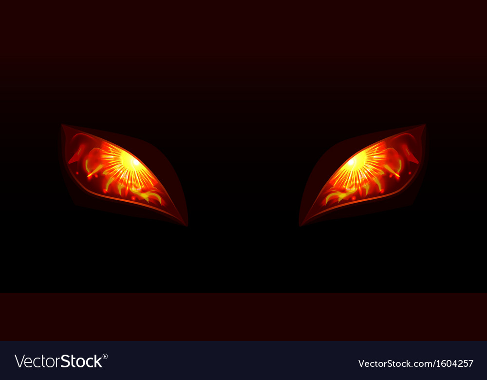 Glowing eyes vector | Price: 1 Credit (USD $1)