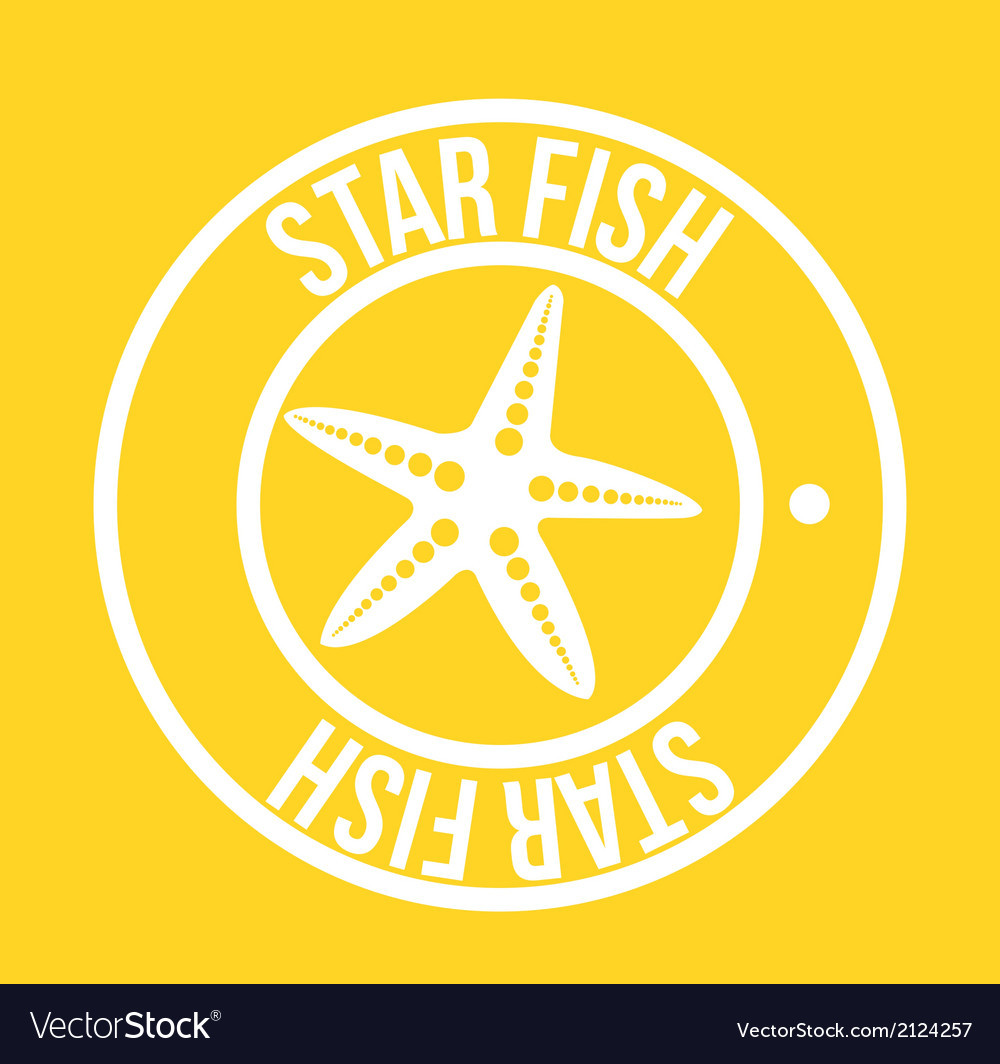 Star fish vector | Price: 1 Credit (USD $1)