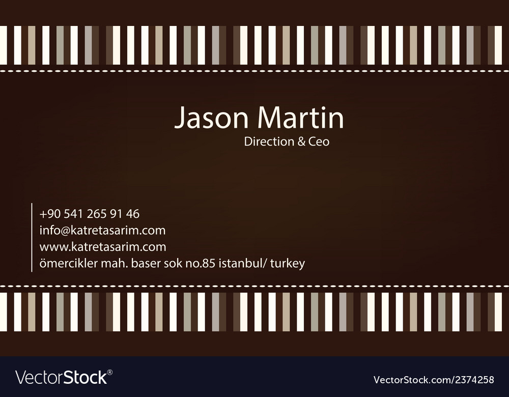 Brown decorative business card vector | Price: 1 Credit (USD $1)