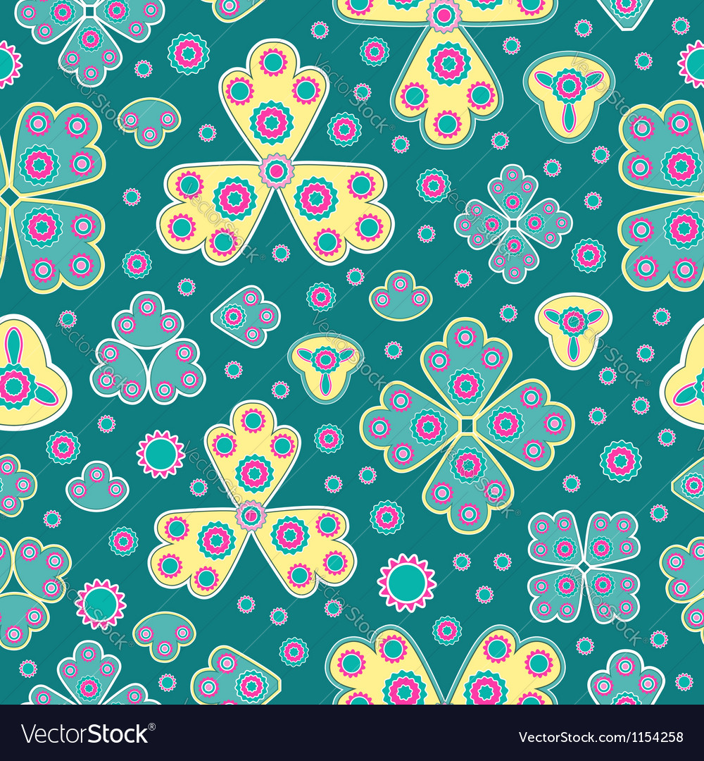 Cheerful seamless pattern vector | Price: 1 Credit (USD $1)