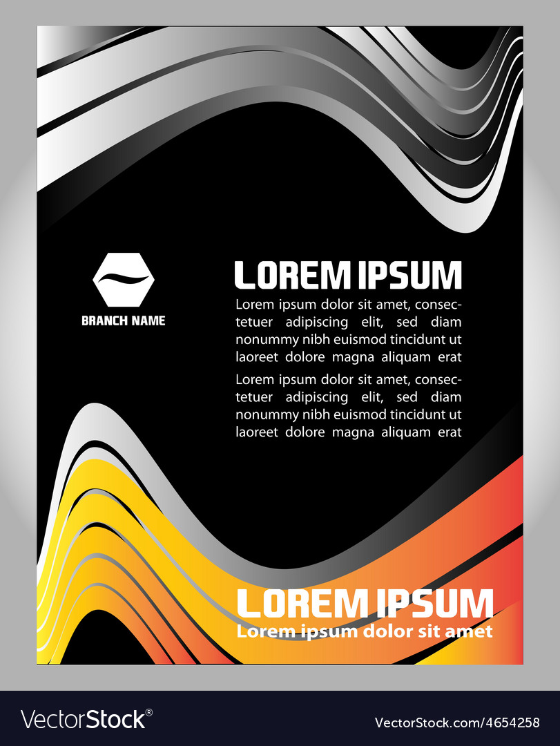 Flyer magazine cover poster template vector | Price: 1 Credit (USD $1)