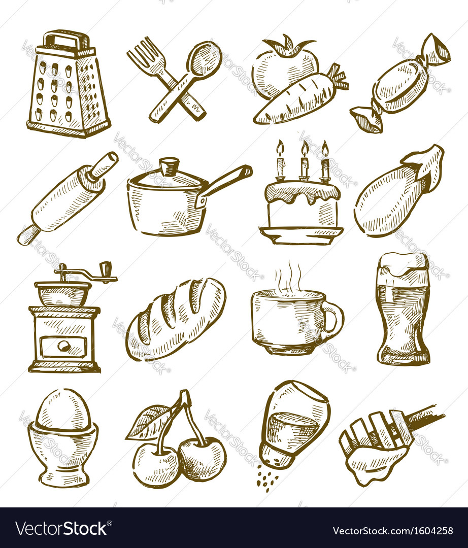 Hand drawn kitchen vector | Price: 1 Credit (USD $1)