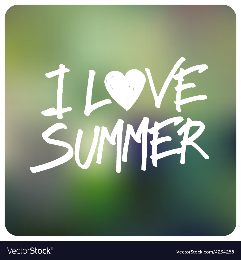 Love summer vector | Price: 1 Credit (USD $1)