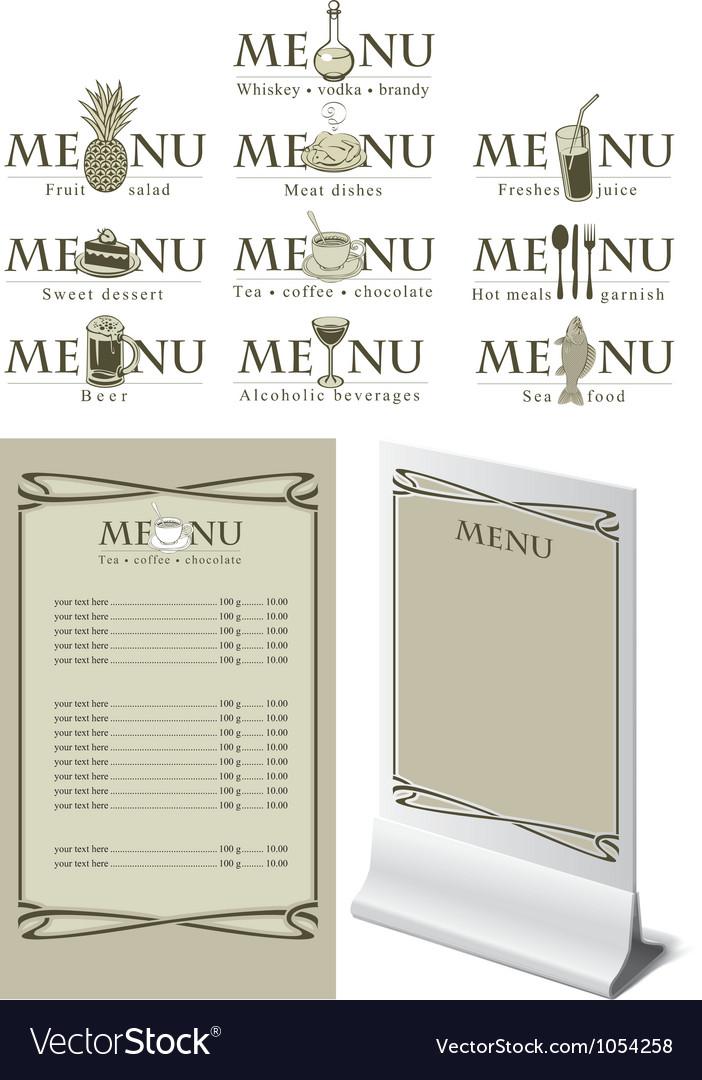 Menu table vector   Price: 1 Credit (USD $1)