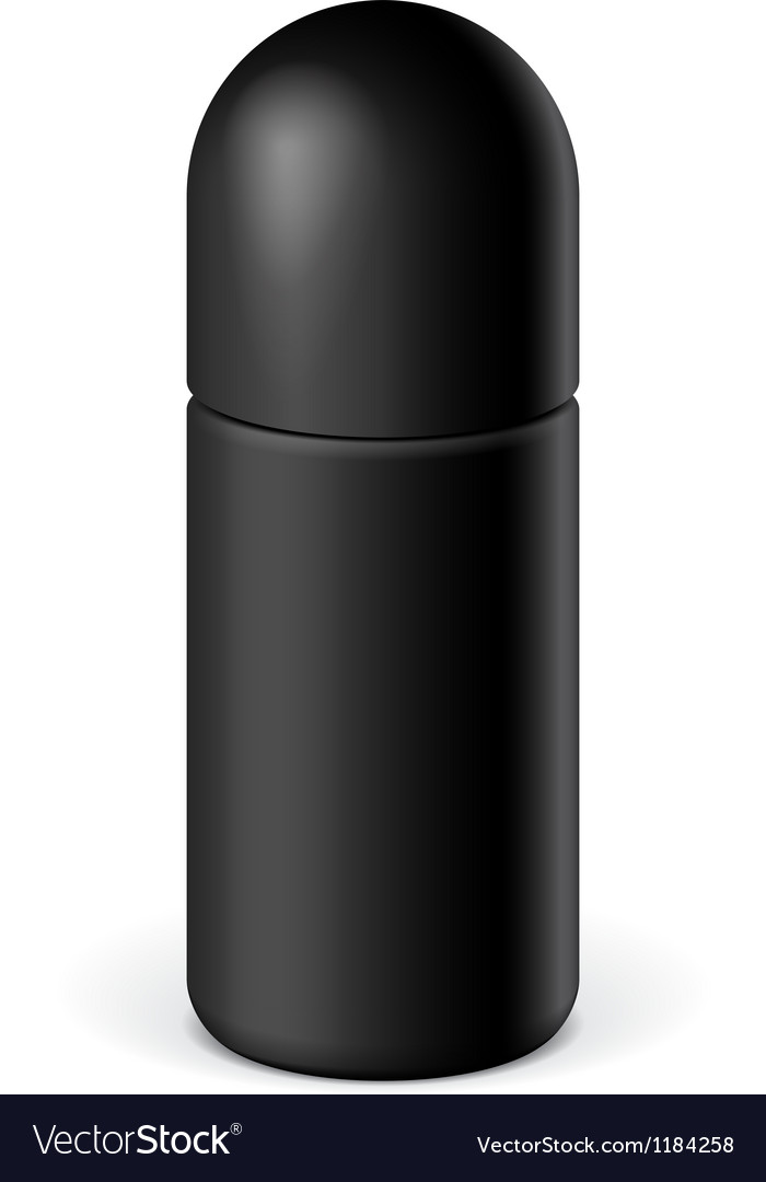 Realistic black cosmetics bottle can spray vector | Price: 1 Credit (USD $1)