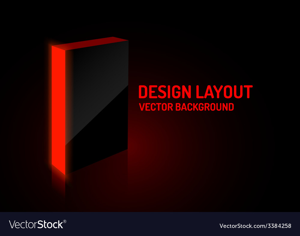 Red box vector | Price: 1 Credit (USD $1)