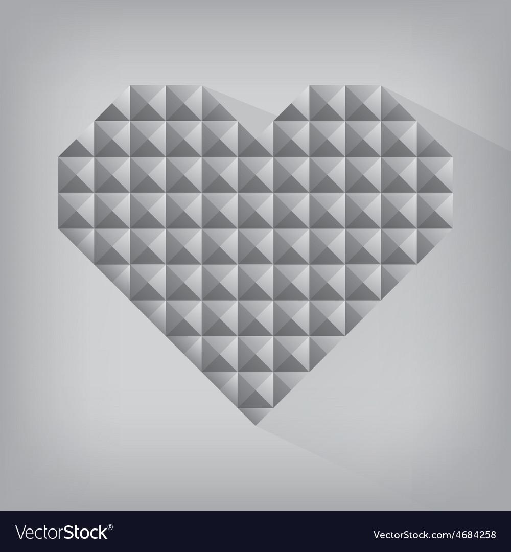 Retro heart triangle abstract love valentine day vector | Price: 1 Credit (USD $1)