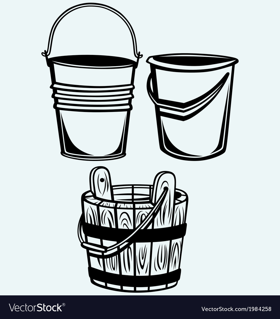 Set of buckets vector | Price: 1 Credit (USD $1)