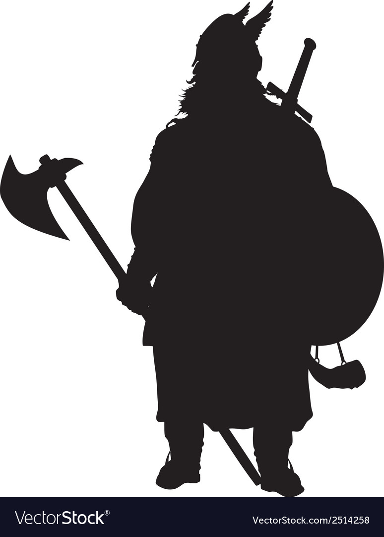 Viking silhouette warriors theme vector | Price: 1 Credit (USD $1)
