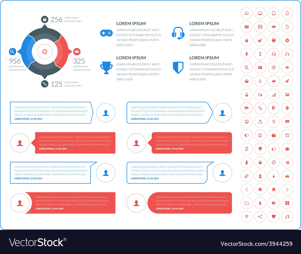 Abstract infographic design in flat style with vector | Price: 1 Credit (USD $1)
