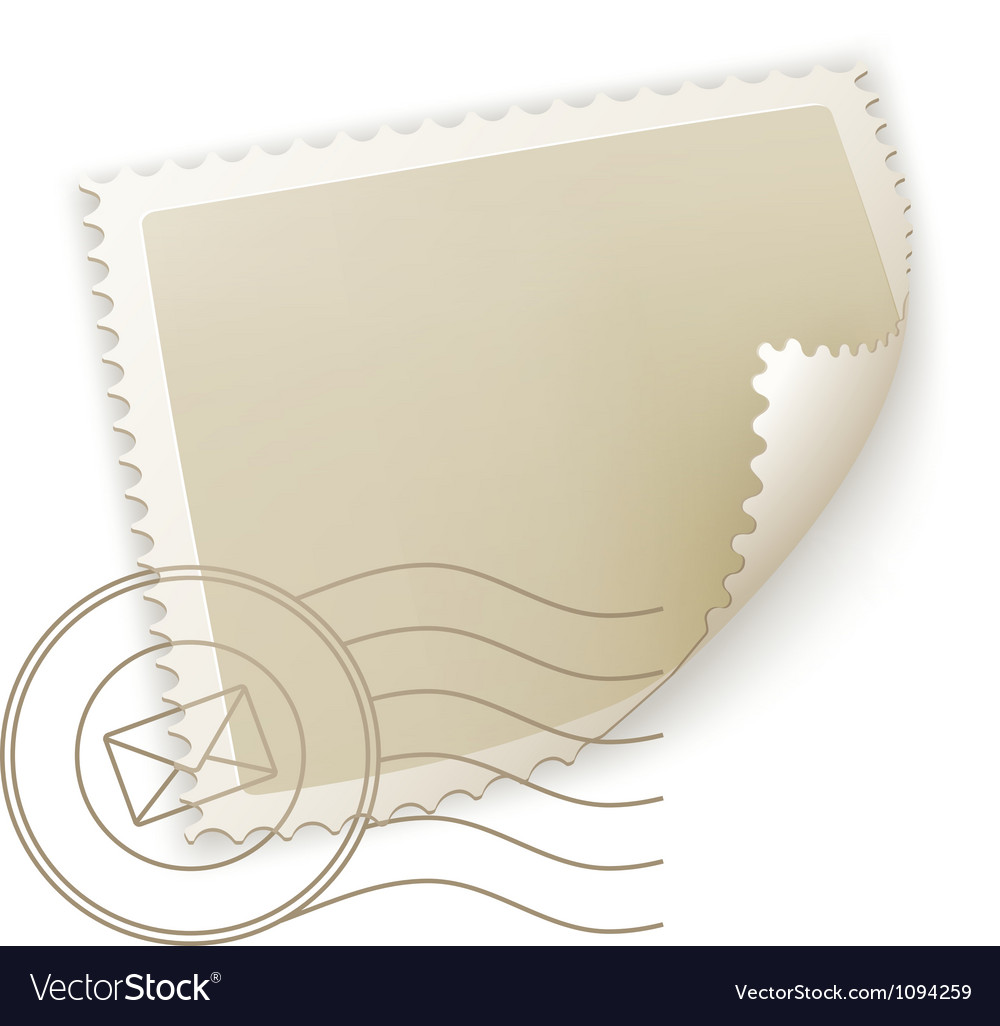Blank postage stamp vector | Price: 1 Credit (USD $1)