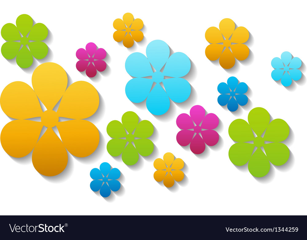 Bright paper flowers vector | Price: 1 Credit (USD $1)