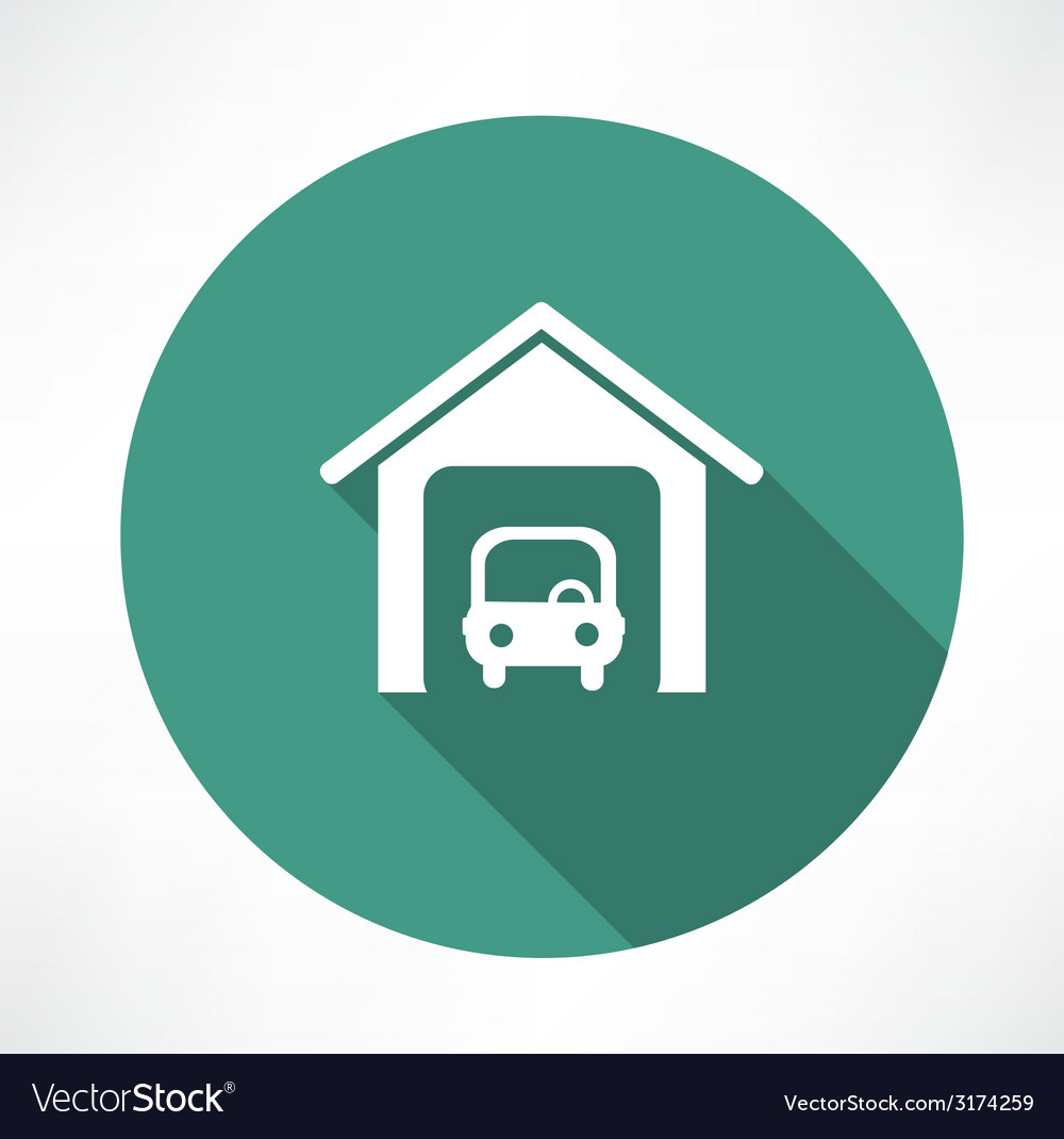 Car in the garage icon vector | Price: 1 Credit (USD $1)