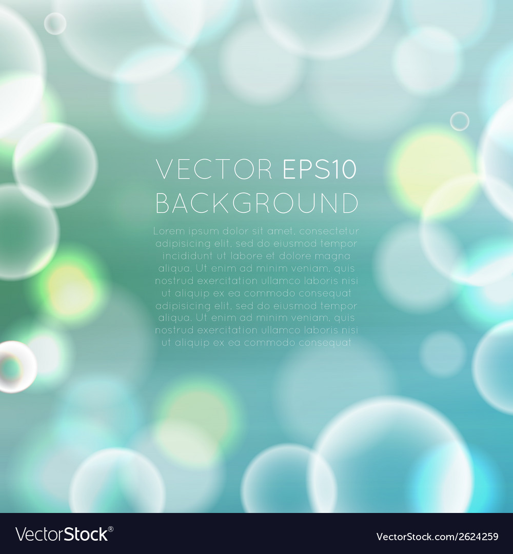 Colorful bokeh abstract background vector | Price: 1 Credit (USD $1)