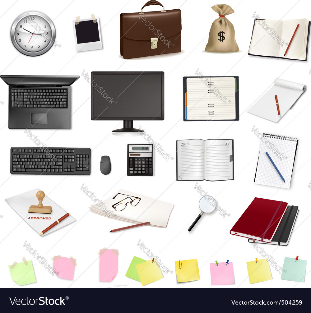 Computer elements vector | Price: 3 Credit (USD $3)